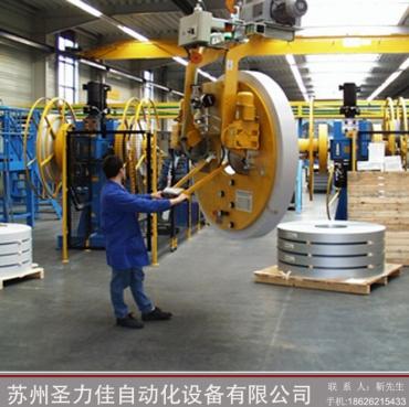 苏州圣力佳滑轨可移动大型真空吸盘圆盘重物翻转搬运助力机械手
